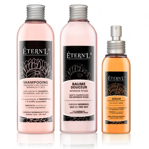 Etern'l - Haarwachstumstherapie Shampoo, Pflegebalsam, Serum